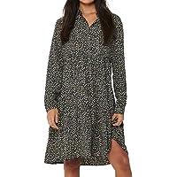 JACQUELINE de YONG Jdypiper L/S AOP Shirt Dress Wvn Noos Vestido para Mujer