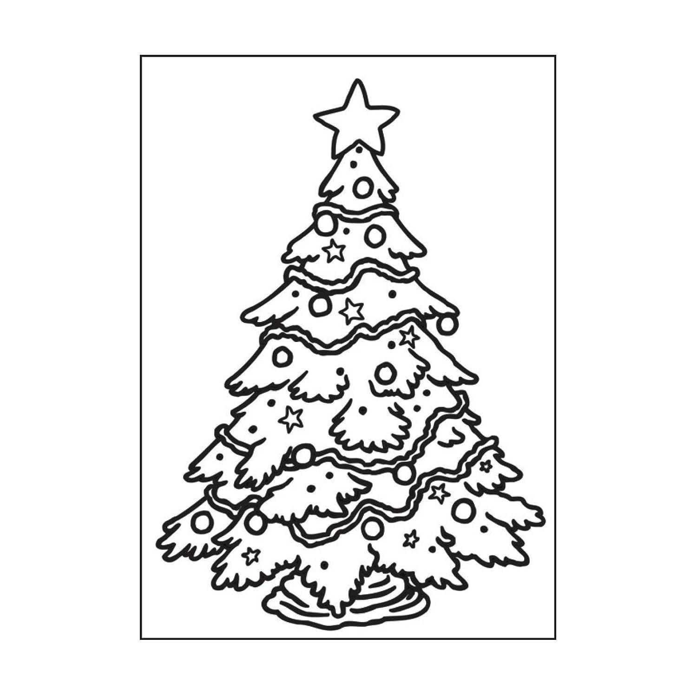 Pr/ägefolder Weihnachtsbaum Pr/ägeschablone