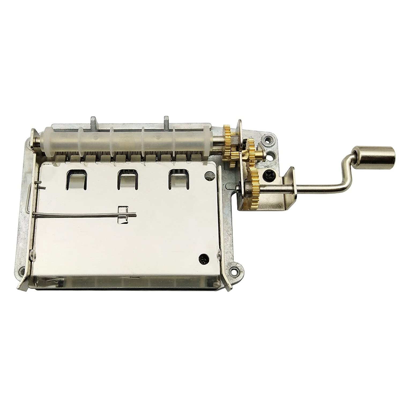 Wingostore - Meccaniche per carillon a manovella con 30 note, ingranaggi in rame, kit per creare uno strumento musicale fai da te 30notesMovementCopperGear