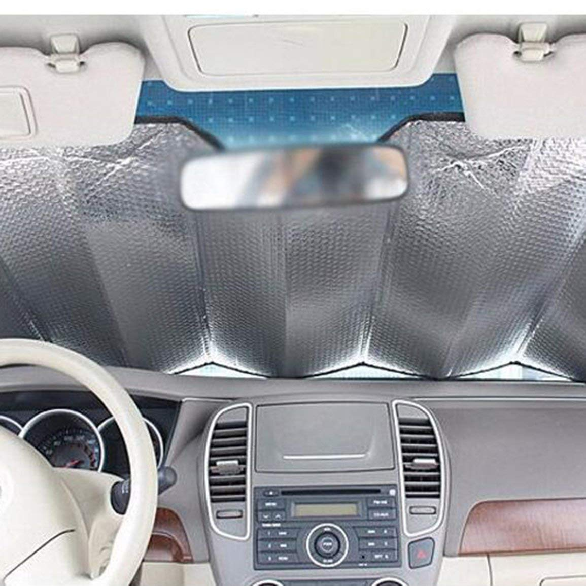 Fantasyworld Car Windshield Sunshades Cover Casual Foldable Cover Front Rear Sun Reflective Shade Car Sun Block Sunshade