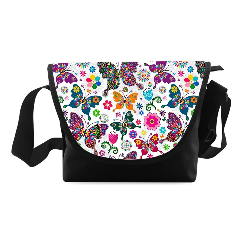 Butterfly Printed Classic Messenger Bag One-side Printing Messenger Bag