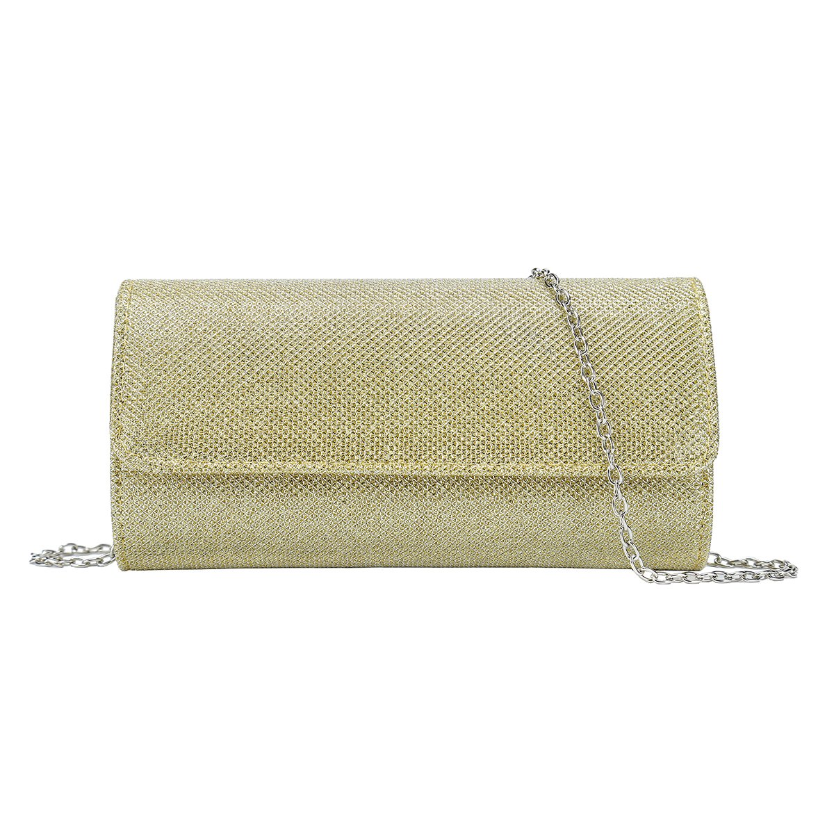 Charming Tailor Clutch Evening Bag on Chain Glitter Fashion Purses and Handbags for Women (Gold)