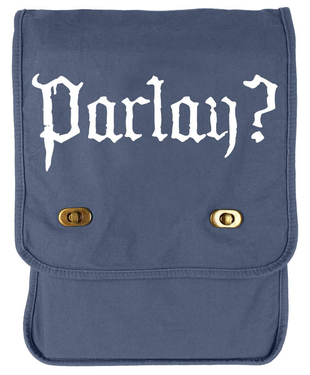 Tenacitee Parlay Flamingo Raw Edge Canvas Messenger Bag