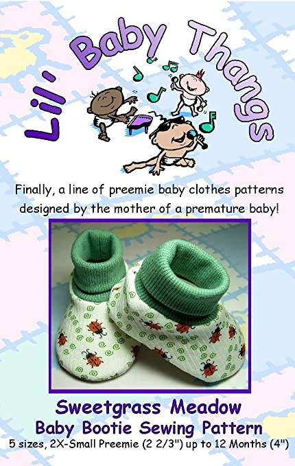 Amazon Sweetgrass Meadow Baby Booties Sewing Pattern Arts