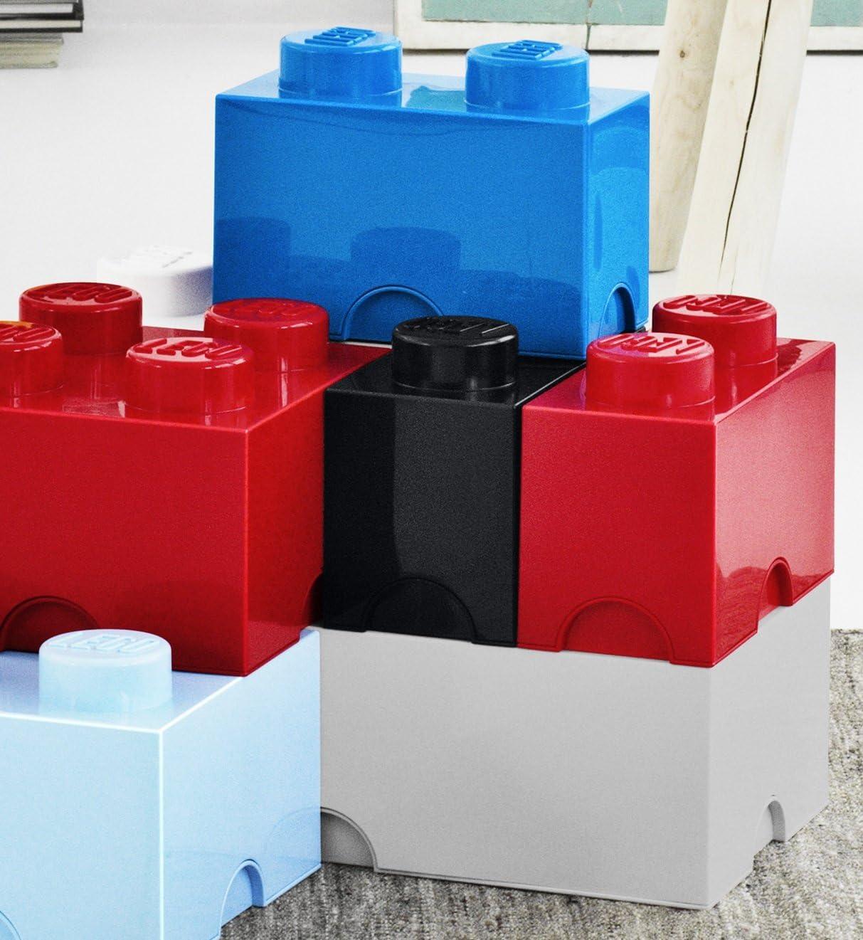 Blue 12 Litre LEGO Brick 8 Knobs Stackable Storage Box