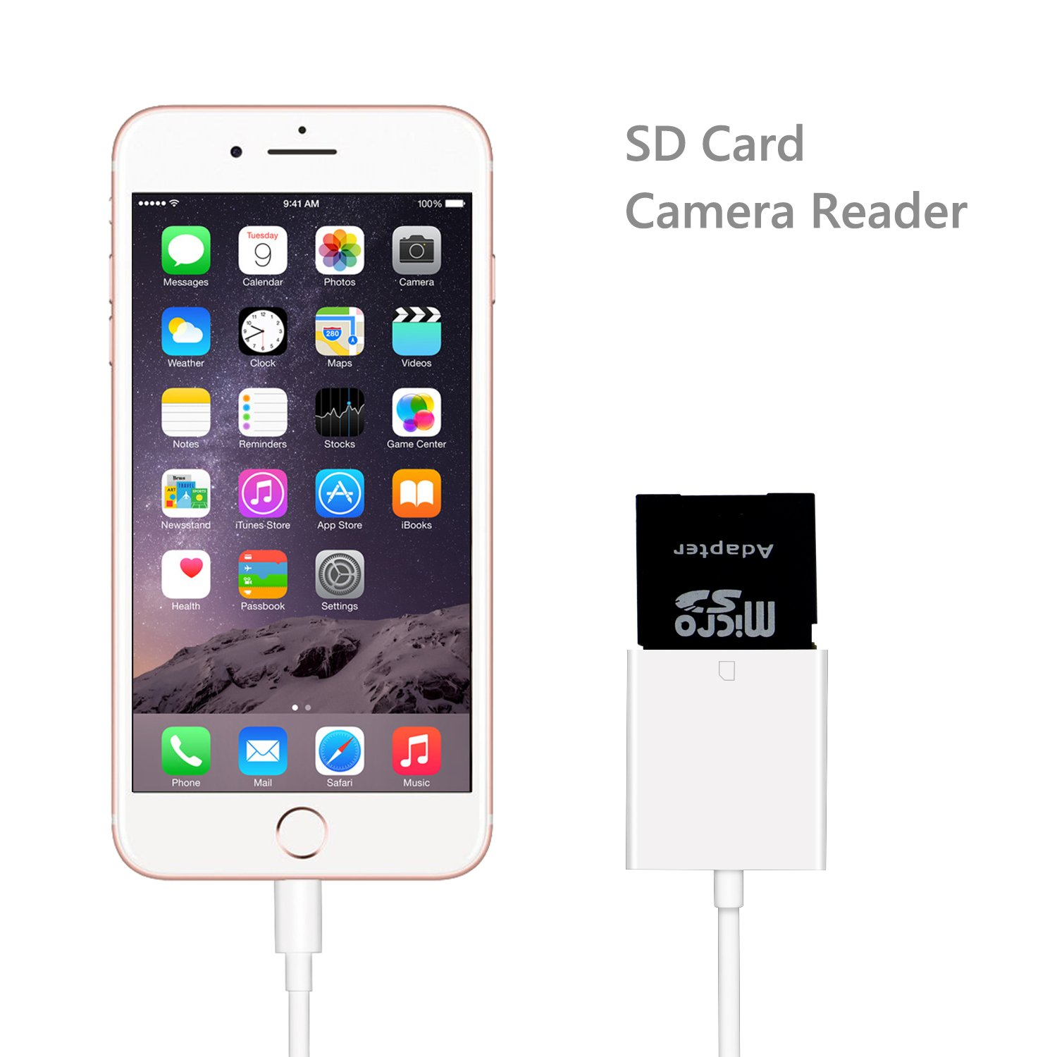 lightning to sd card camera reader connector micro usb. Black Bedroom Furniture Sets. Home Design Ideas