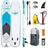 """DAMA 9'6""""/10'6""""/12'2"""" Inflatable Stand Up Paddle Board, Yoga Board, Camera Seat, Floating Paddle, Hand Pump, Board Carrier, W"""