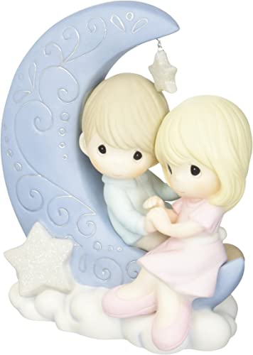 Precious Moments 152016 I Love You To The Moon And Back Bisque Porcelain Figurine