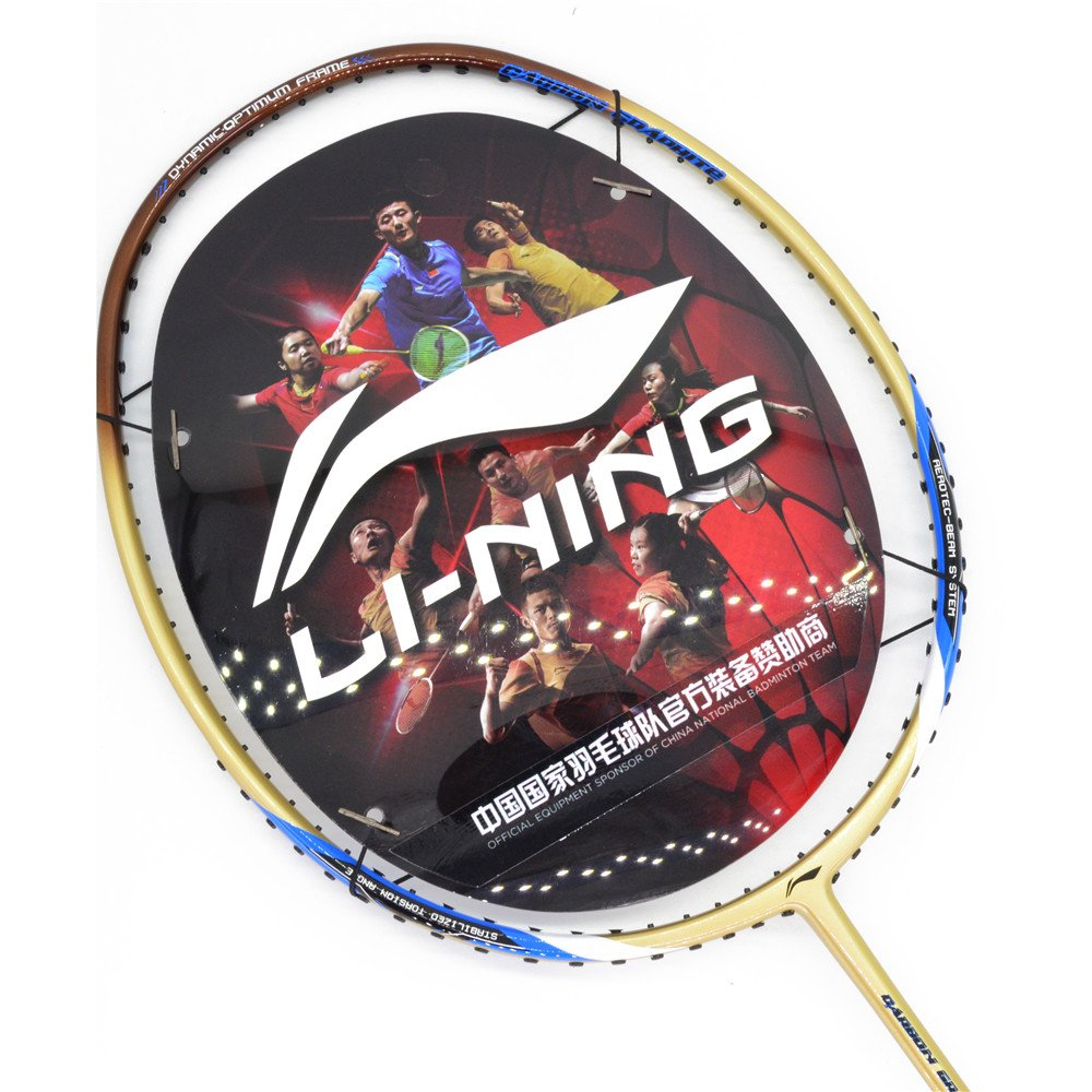 2018 Li-Ning Badminton racket A900T Gold Badminton Racquet Get Strung