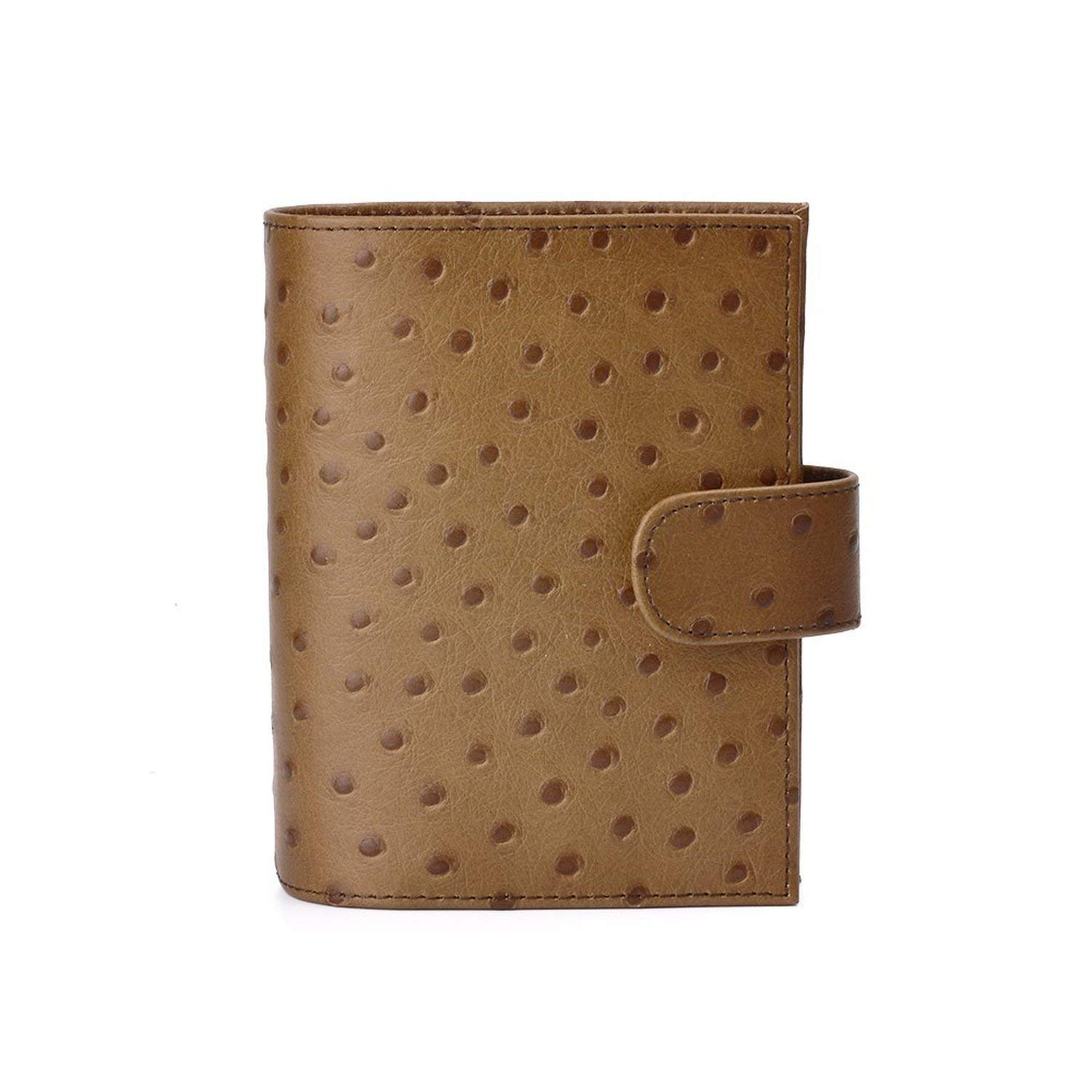 Amazon.com : Genuine Leather Rings Notebook A7 Size Brass ...
