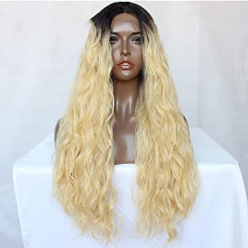 Lady night Black Loose Wavy Lace Front Wig Glueless for Women