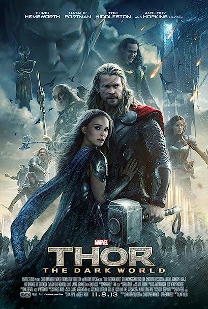 Poster of Thor The Dark World 2013 BluRay 720p Dual Audio In Hindi English