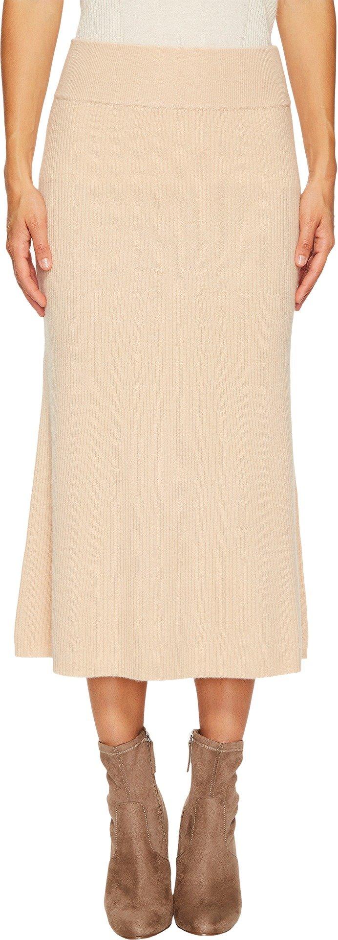 Cashmere In Love Women's Viva Knit Skirt Caramel Small
