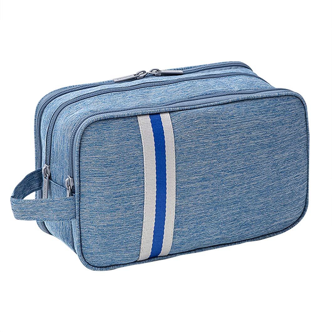 iSuperb Beauty Case Borsetta da Viaggio Astuccio Trousse Borsa da Toilette con Manico Wash Bag Viaggio (Bianco crema)