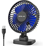 OPOLAR USB Desk Fan, Small but Mighty, Quiet Portable Fan for Desktop Office Table, 40° Adjustment for Better Cooling, 3…