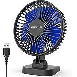 OPOLAR Mini USB Powered Desk Fan, Small Buy Mighty, 2019 New Quiet Portable Fan for Desktop Office Table, 40° Adjustment…