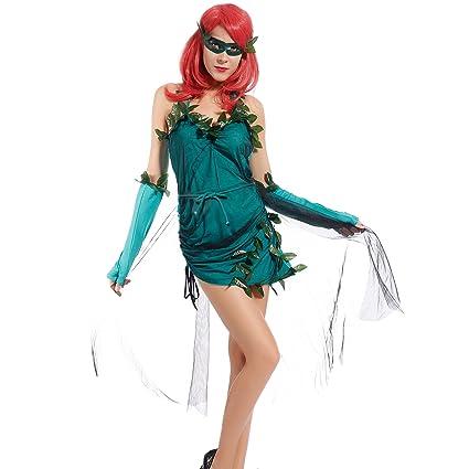Maboobie - Disfraz Hiedra Venenosa Sexy para mujer Adulto Fiestas Temáticas Carnavales  Halloween (Talla M 7a1694faf2a