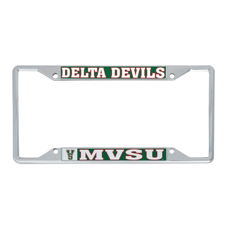 Desert Cactus Mississippi Valley State University MVSU Delta Devils HBCU NCAA Metal License Plate Frame for Front Back of Car Officially Licensed Mascot