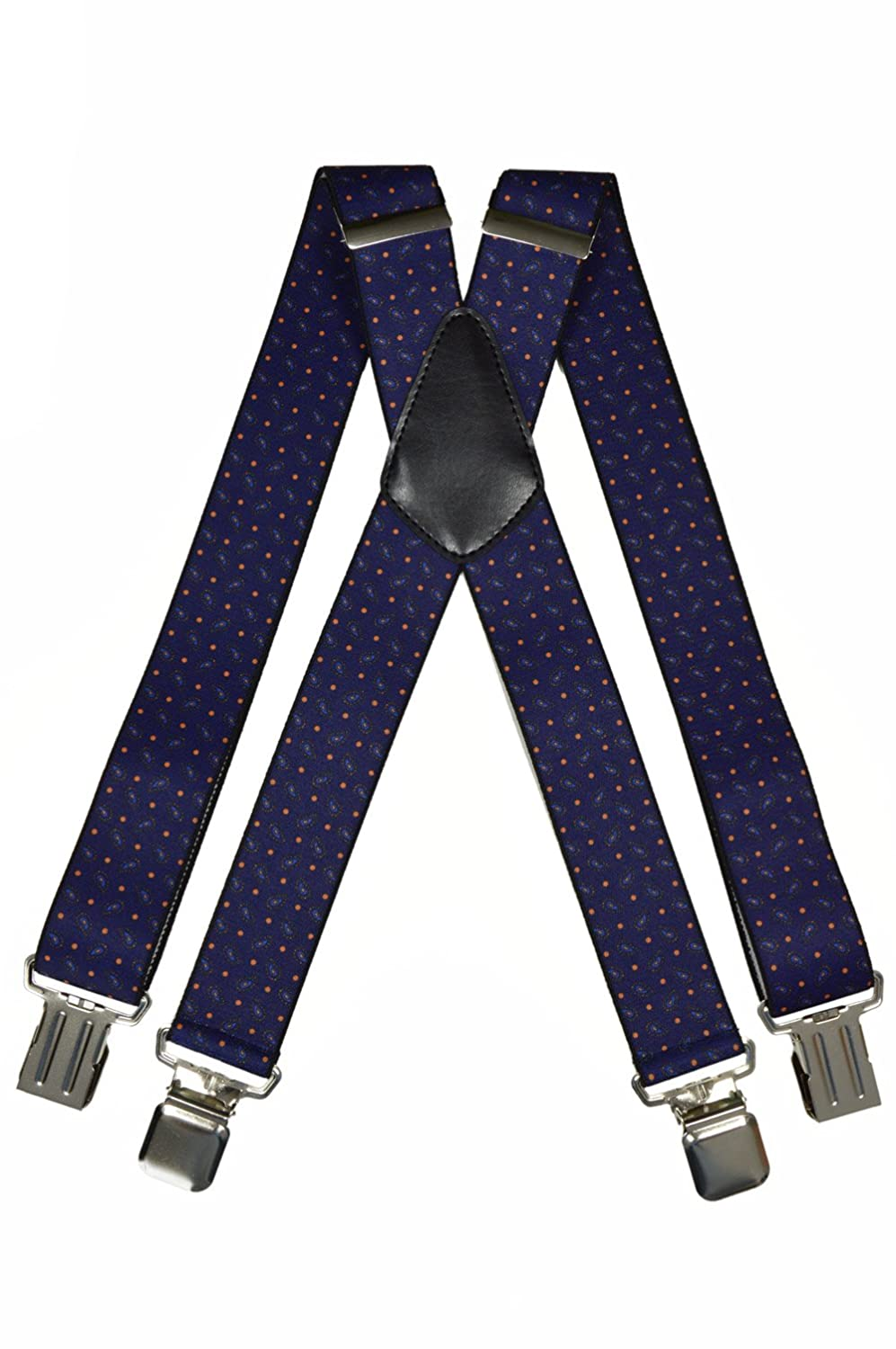 Men's Heavy Duty Formal Printed X-Shape Braces/Suspenders with Strong Clips, 4cm BRACES2C2015R