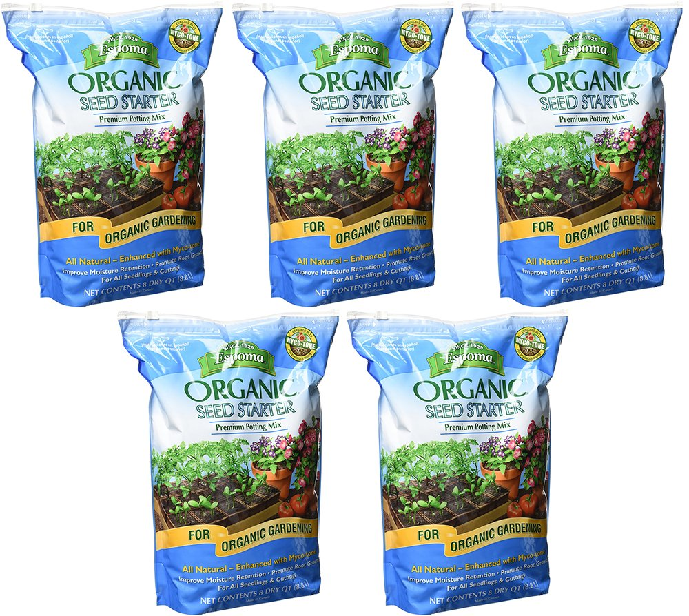 Espoma Organic BVpQk Seed Starter, 8 Quart (5 Pack) by Espoma