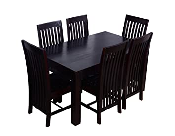 9cae86ecb46 CK Handicrafts Solid Sheesham Wood 6 Seater Dining Table Set with Curvy  Chair