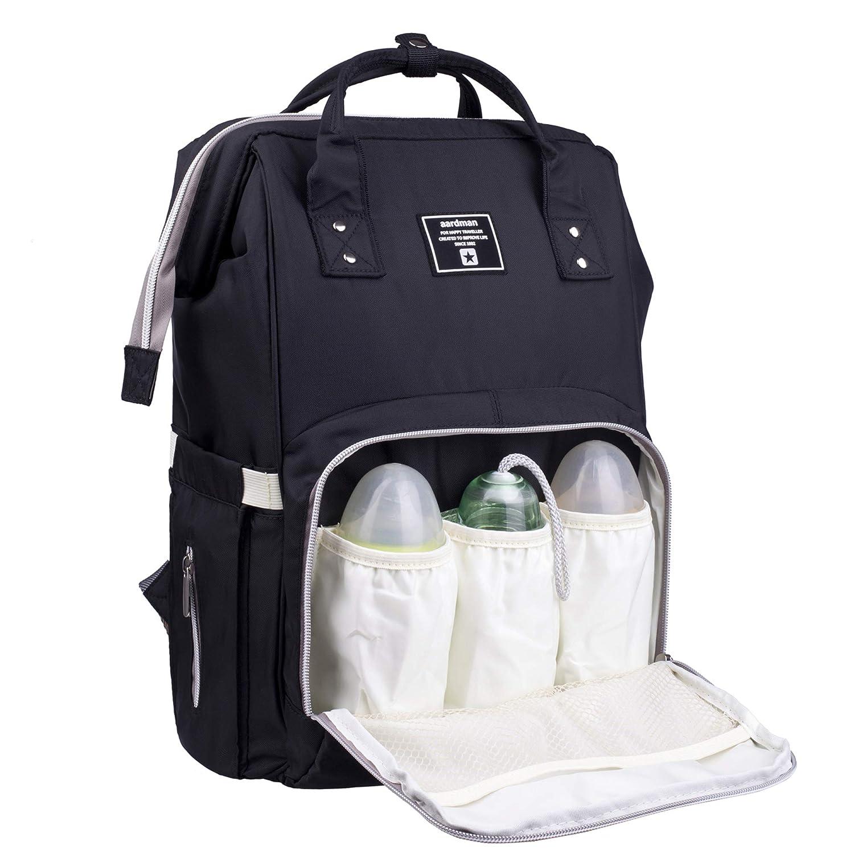 Diaper Bag Wrap bag Nappy Bag black with Name Wax Cloth