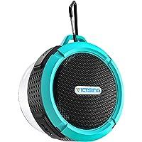 VicTsing C6 Waterproof Bluetooth Speaker with 6H Playtime, Loud HD Sound (Light Blue)