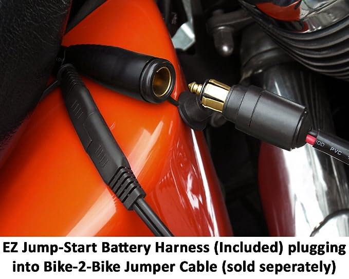 EKLIPES EK1-110 12v Conector Toma de Corriente mechero Encendedor USB para Moto, de Color Cromo para Cargar teléfonos móviles, GPS, iPhone, iPad, ...