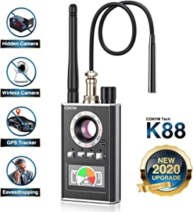 Anti Spy RF Detector, Hidden Camera Detector, Bug Detector Wireless Signal Laser Lens GSM and Listening Device Finder, Radio Frequency Finder, 2020 Upgraded Version of K88