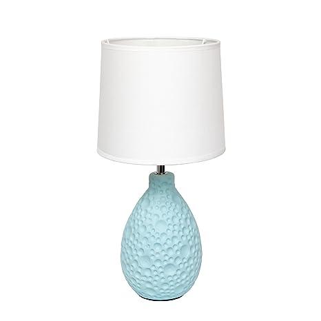 Amazon.com: Lámpara de mesa ovalada de cerámica texturizada ...