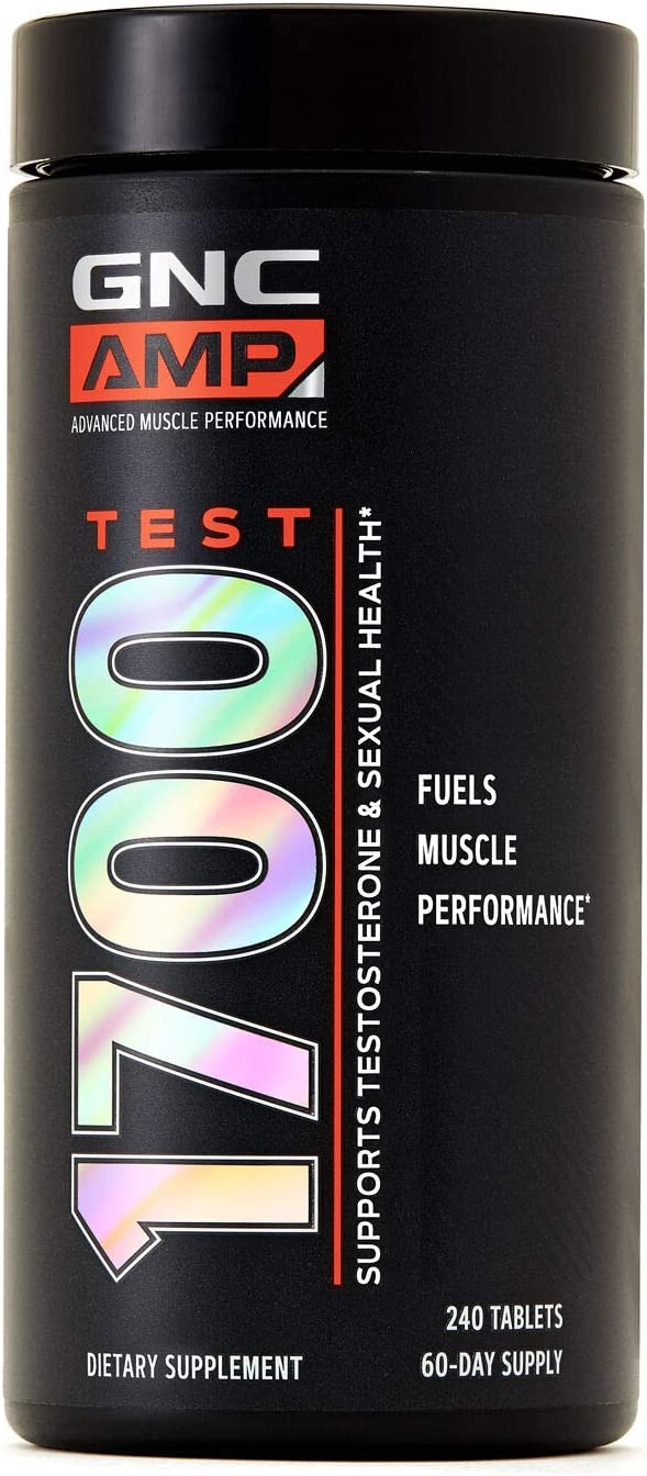 GNC AMP Test 1700, 240 Tablets, Testosterone and Libido Support