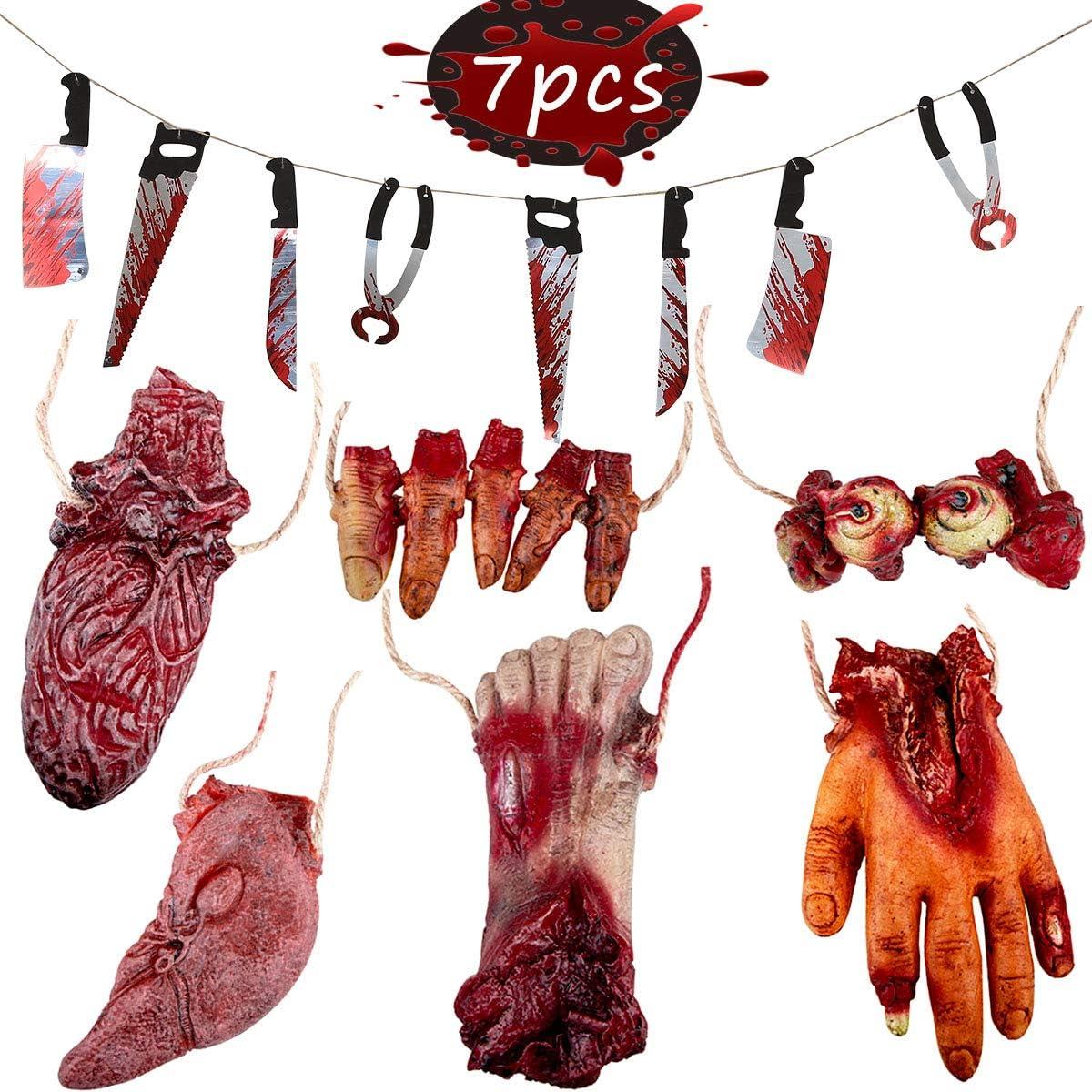Amazon.com: Cuchillo sangriento de Halloween, falsos ...