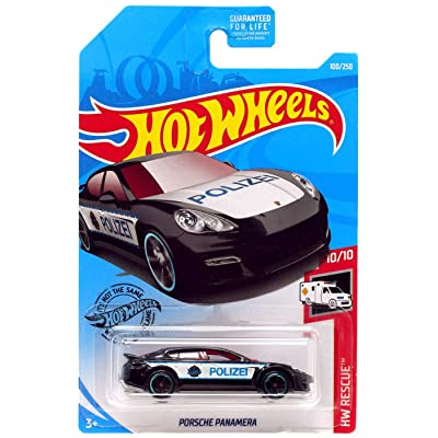 Hot Wheels 2020 Hw Rescue Panamera, 100/250 Black: Toys & Games