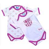 Madness Pack 2 Bodys FC Barcelona Rosa Manga Corta