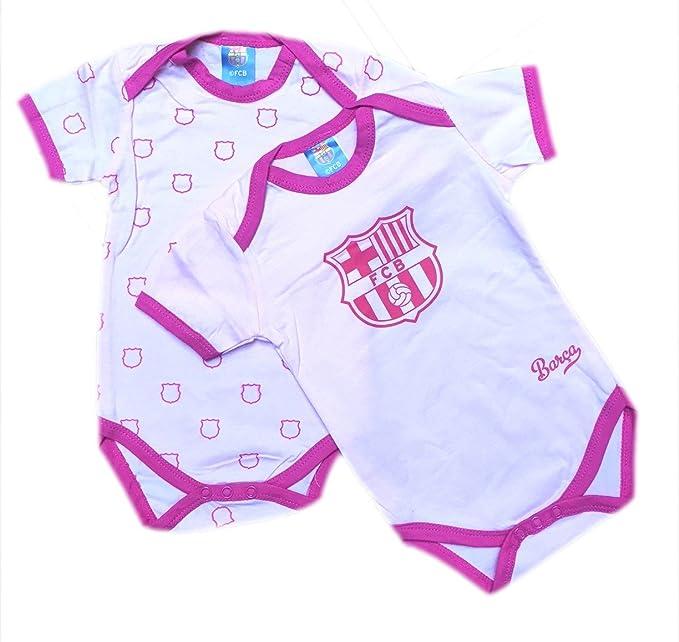 Madness Pack 2 Bodys FC Barcelona Rosa Manga Corta (1Mes)