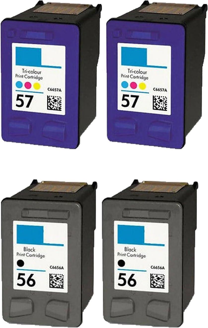 Remanufactured Inkjet Cartridge C6656 C6657 C6658 For HP 56 57 58 3550