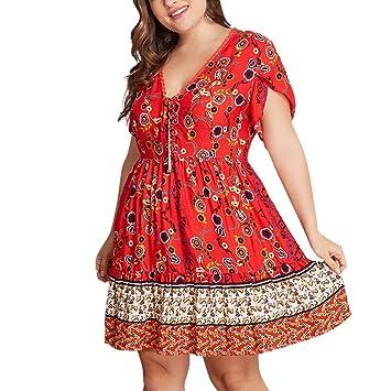Amazon.com: Witspace Plus Size Womens Floral Print Short ...
