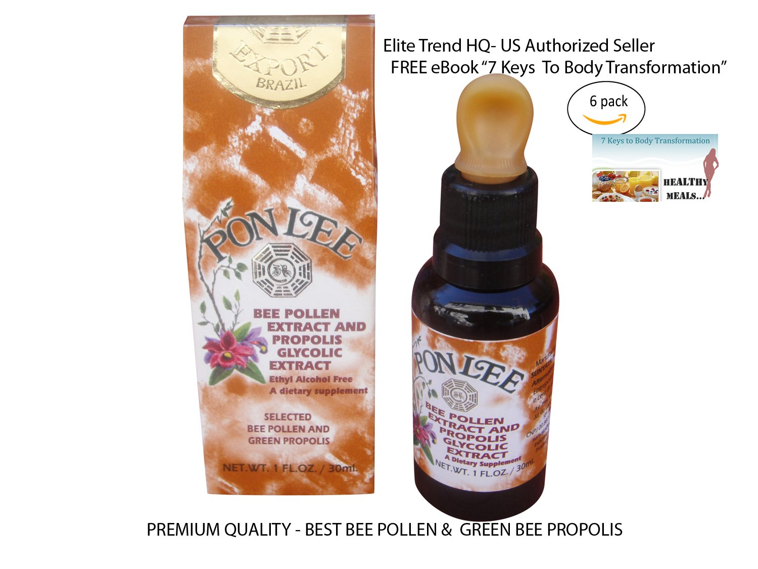 BRAZIL BEE POLLEN & GREEN BEE PROPOLIS EXTRACT-Ethyl Alcohol Free - BY PON LEE (6)