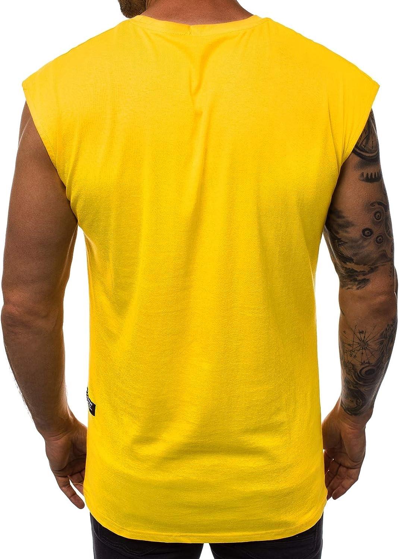 OZONEE Herren Tank Top Tanktop Tankshirt /Ärmellos Bodybuilding Shirt Unterhemd T-Shirt Muskelshirt Achselshirt /Ärmellose Training Gym Sport Fitness Freizeit Rundhals 777//5672BO