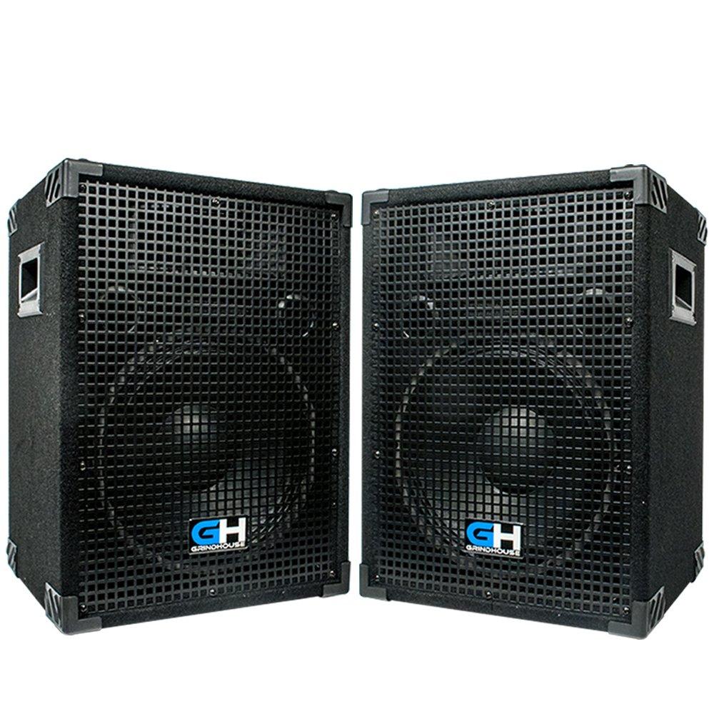 Grindhouse Speakers - GH12L-Pair - Pair of Passive 12 Inch 2-Way PA/DJ Loudspeaker Cabinets  - 700 Watt each  Full Range PA/DJ Band Live Sound Speaker