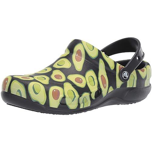 crocs Bistro Graphic Clog U Zuecos Unisex Adulto Negro Black Volt Green 09w 36 37 EU