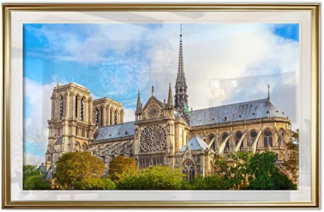 Amazon Com Renditions Gallery Rose Window Of Notre Dame Fine Giclee Prints Wall Art In Premium Quality Ready To Hang 18x24 Gold Frame Posters Prints