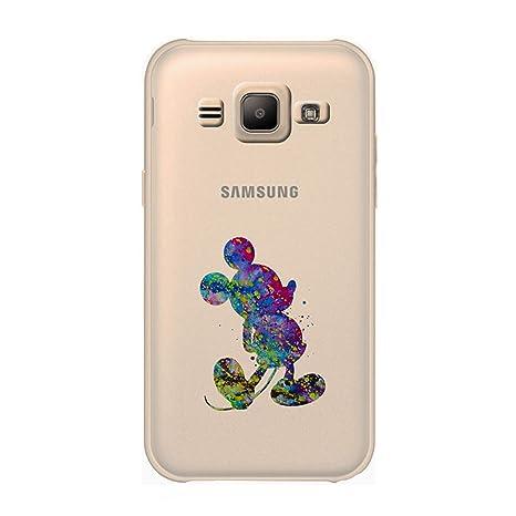 Arte de Fan Funda/Cubierta del Teléfono para Samsung Galaxy J1 2015 (J100) / Silicona Suave de Gel/TPU / iCHOOSE/Mickey Mouse