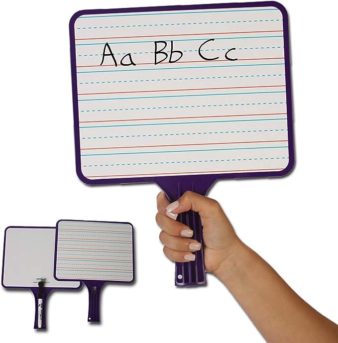 KleenSlate Dry Erase Paddles 24pk Rectangular Classroom Set 5132 for sale online