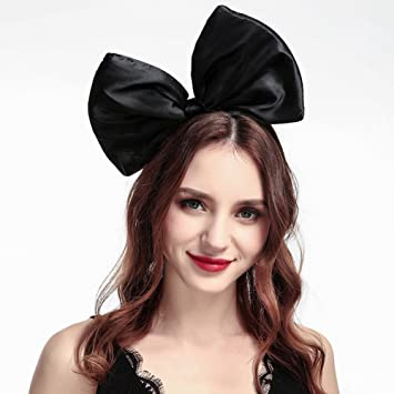Amazon.com   Cute Big Bow Headband for Women Girls Bowknot Hairband Hair  Hoop Costume Accessories (Black)   Beauty 8bff5c6ab30