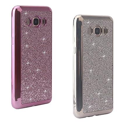 2Pcs Fundas Gel para Samsung J5 2016, Galaxy J510 Carcasa Brillar, Moon mood® TPU Silicona Trasero Caso Blandas Cubierta Galaxy J5 2016 Resistente a ...