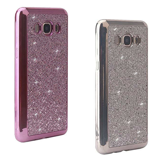 2pz iPhone 6 Custodia Cover iPhone 6S Paillettes Bling Moon mood