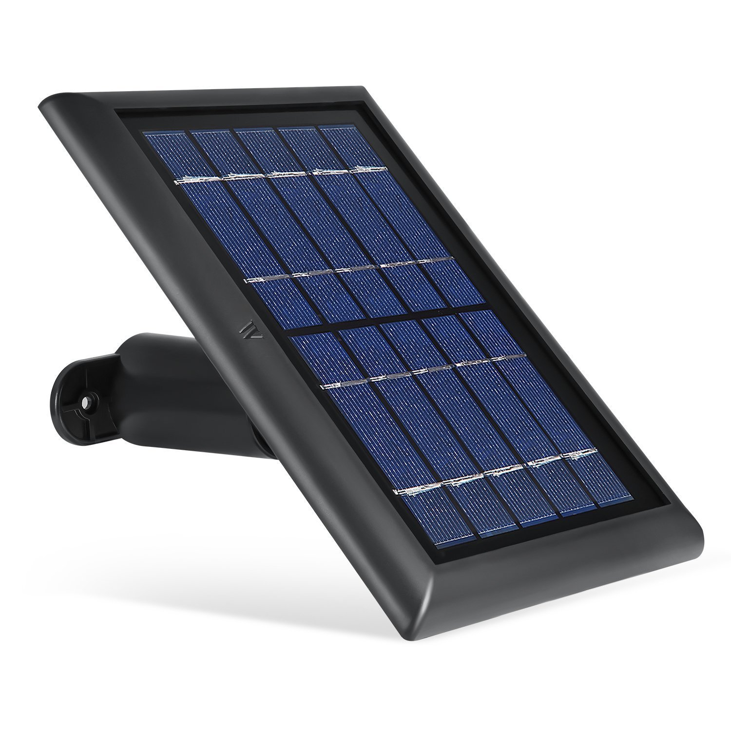 Solar Panel for Ring Spotlight Camera, Power Your Ring Spotlight Cam continuously with Our New Solar Charger - by Wasserstein (Black)