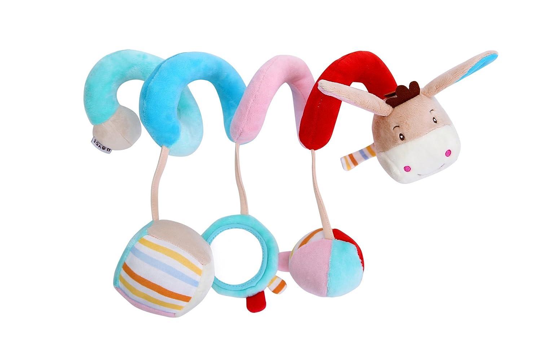 Différents cadeaux à vos bébés Attachements de lit de bébé de lit de bébé, animal de bande dessinée accrochant hochet jouets d'enfant en bas âge poussette Landau (âne) Speedmar