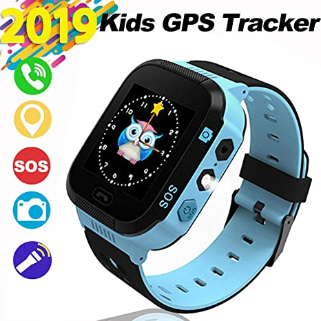 Kids Smartwatch Smart Watch for Kids,GPS,Touch-Smartwatch,Kinder-Tracker-Uhren, SOS-Anti-Verlust-LBS Tracker Kamera Taschenlampe Wecker Voice Chat für ...
